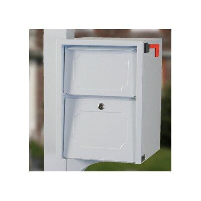 Locking Post Mounted Mailbox Finish: White