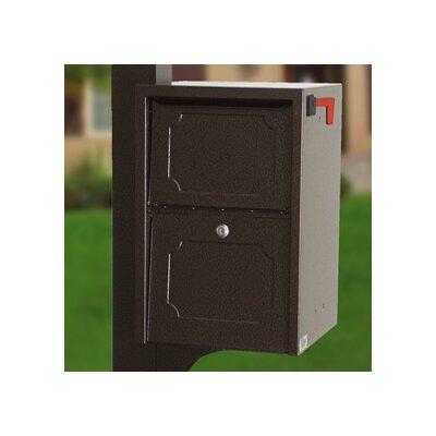 Locking Post Mounted Mailbox Finish: Copper Vein