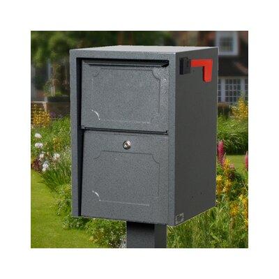 Locking Post Mounted Mailbox Finish: Gray