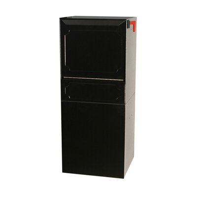 Steel 1 Unit Parcel Locker Color: Black, Outgoing Mail Compartment: Do not include