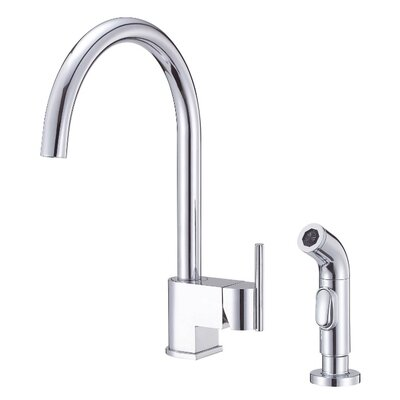 Como Single Handle Kitchen Faucet with Side Spray Finish: Chrome