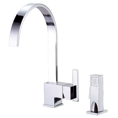 Sirius Single Handle Kitchen Faucet with Side Spray Finish: Chrome