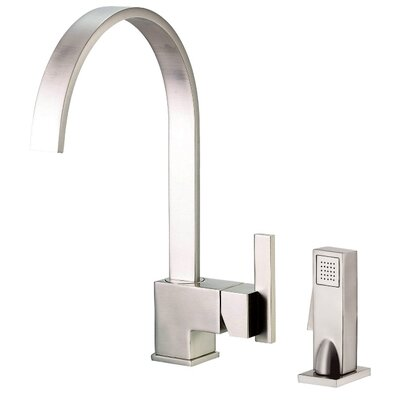 Sirius Single Handle Kitchen Faucet with Side Spray Finish: Stainless Steel