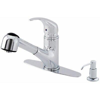 Melrose Single Handle Deck Mount Kitchen Faucet Finish: Chrome