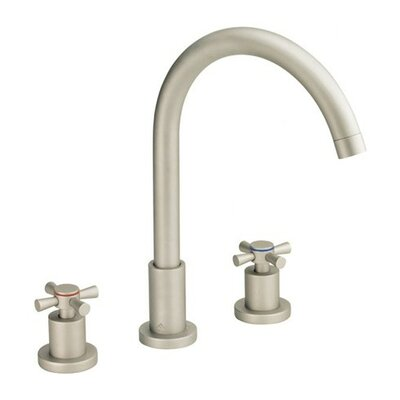 Parma Mini Widespread Bathroom Faucet with Pop-Up Drain Finish: Brushed Nickel