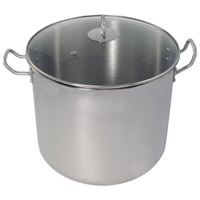 Stock Pot with Lid Size: 24-qt.