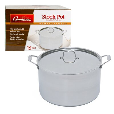 Stock Pot with Lid Size: 16-qt.