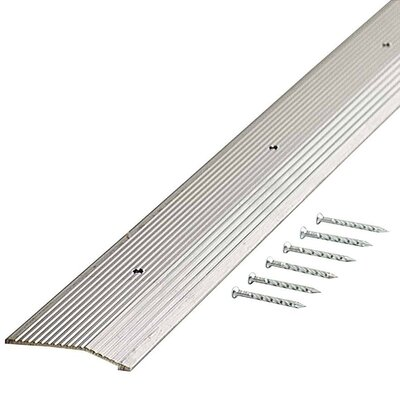 "M-d Products 0.5"" x 1.88"" x 36'' Carpet Reducer in Silver"