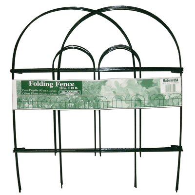 """Folding Wire Fence Color: Green, Size: 18"""" H"""