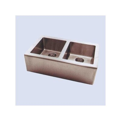 """Pegasus Apron 33"""" x 20"""" Double Extra Deep Bowl Kitchen Sink"""