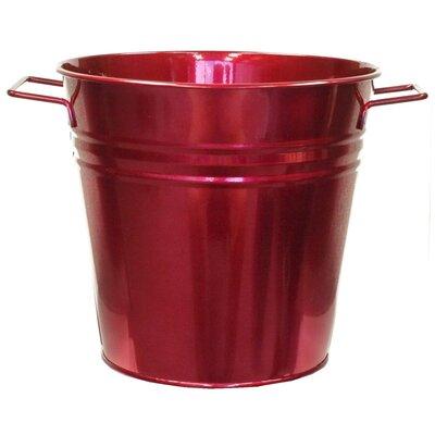 Galvanized Steel Pot Planter Color: Apple - Red