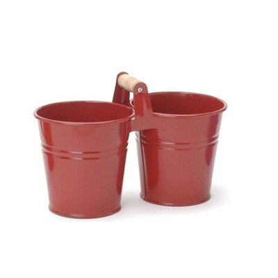 Galvanized Steel Pot Planter Color: Red