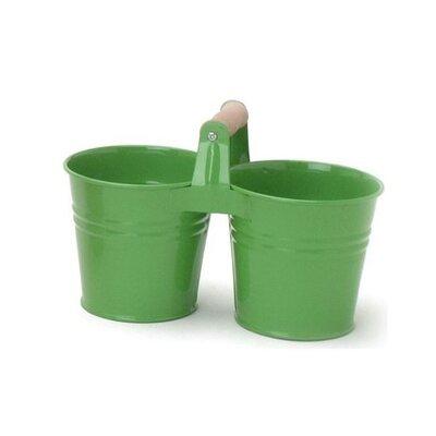Galvanized Steel Pot Planter Color: Green