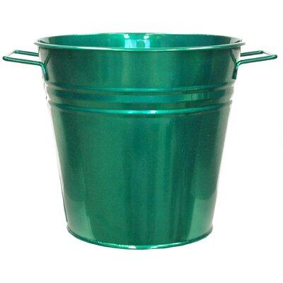 Galvanized Steel Pot Planter Color: Glazed Green