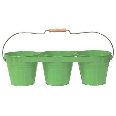 Galvanized Steel Pot Planter Color: Apple Green