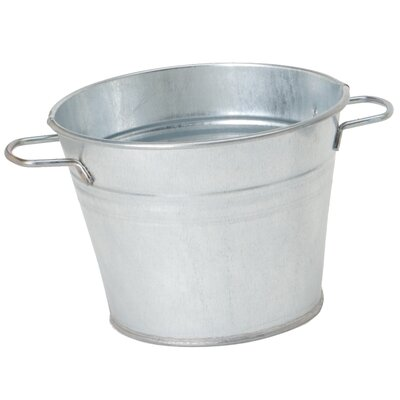 Galvanized Metal Pot Planter