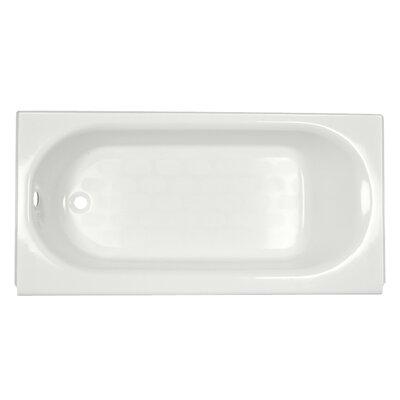 "Princeton 60"" x 34"" Above Floor Luxury Ledge Americast Recessed Soaking Bathtub Color: White, Drain Location: Left"