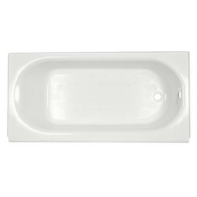 "Princeton 60"" x 34"" Above Floor Luxury Ledge Americast Recessed Soaking Bathtub Color: White, Drain Location: Right"