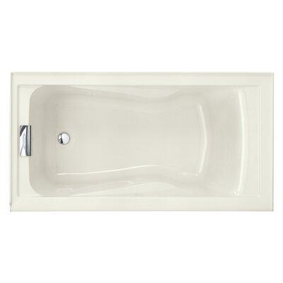 "Evolution 60"" x 32"" Deep Soaking Bathtub Color: Linen"