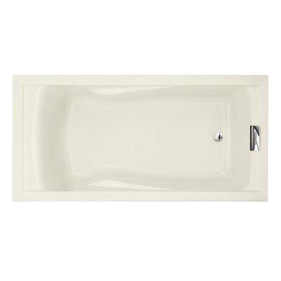 "Evolution 72"" x 36"" Deep Soaking Bathtub Color: Linen"