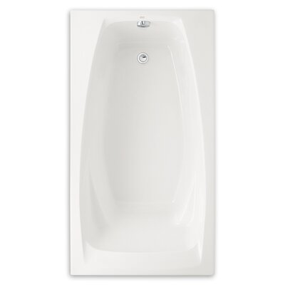 """Colony 60"""" x 33"""" Air Tub with Hydro Massage Color: White"""