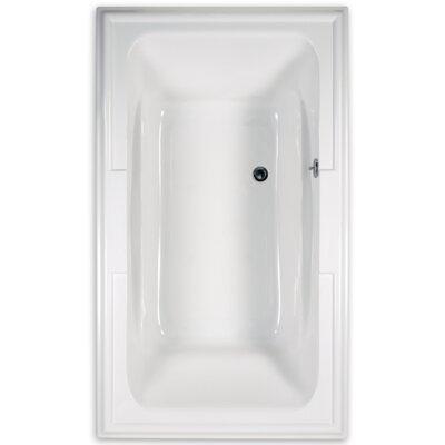 """Town Square 71.5"""" x 42""""Soaking Bathtub Color: White"""