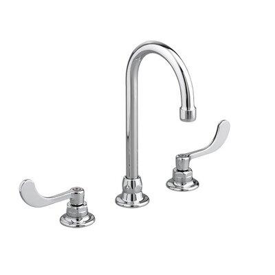 American Standard Monterrey Widespread Bathroom Faucet with Gooseneck Grid Drain
