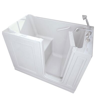 """48"""" x 28"""" Walk-In Right Hand Combo Whirpool Color: Linen"""