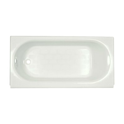 "Princeton 60"" x 34"" Above-Floor Soaking Bathtub with Luxury Ledge and Integral Overflow Color: White, Drain Location: Left"