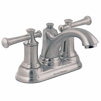 Portsmouth Centerset Bathroom Faucet with Drain Assembly Finish: Satin Nickel