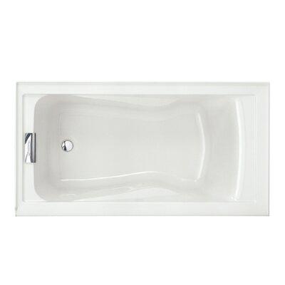 """Evolution Left Hand Drain 60"""" x 32"""" Drop-In Soaking Bathtub Color: White"""