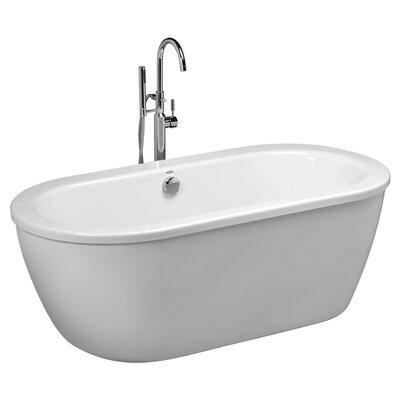"Cadet 64.625""x 30.625"" Freestanding Soaking Bathtub"