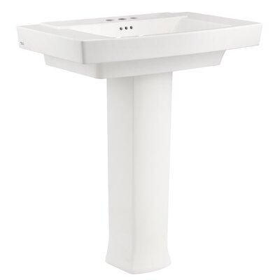 "Townsend 35"" Full Pedestal Bathroom Sink with Overflow"