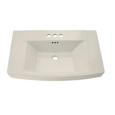 "Townsend 30"" Pedestal Bathroom Sink with Overflow Sink Color: Linen"