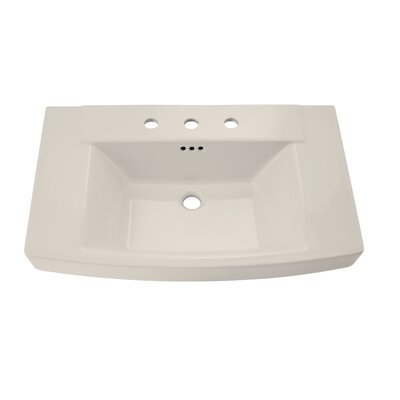 "Townsend 35"" Pedestal Bathroom Sink with Overflow Sink Color: Linen"
