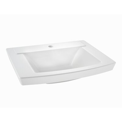 "Townsend 24"" Pedestal Bathroom Sink with Overflow Sink Color: White"