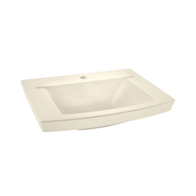 "Townsend 24"" Pedestal Bathroom Sink with Overflow Sink Color: Linen"
