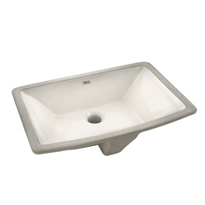 Townsend Vitreous China Rectangular Undermount Bathroom Sink with Overflow Sink Color: Linen