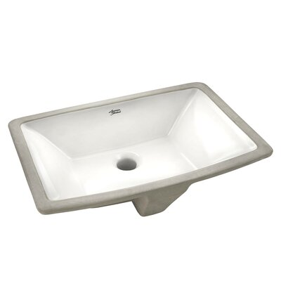 Townsend Vitreous China Rectangular Undermount Bathroom Sink with Overflow Sink Color: White