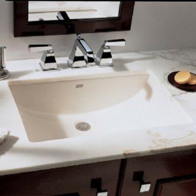 Studio Ceramic Rectangular Undermount Bathroom Sink with Overflow Sink Color: Linen