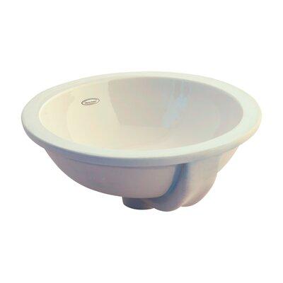Orbit Ceramic Circular Undermount Bathroom Sink with Overflow Sink Color: Bone