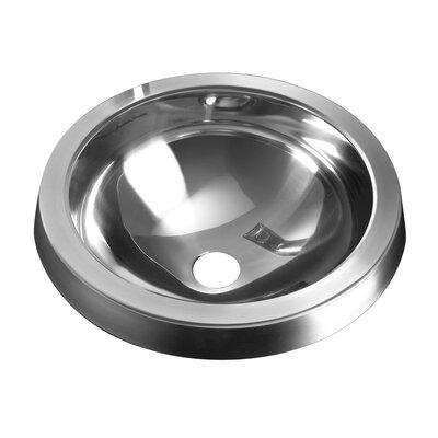 Prevoir Metal Circular Undermount Bathroom Sink with Overflow