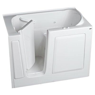 "59.5"" x 30"" Walk In Whirlpool Bathtub Color: Linen, Drain Location: Right"
