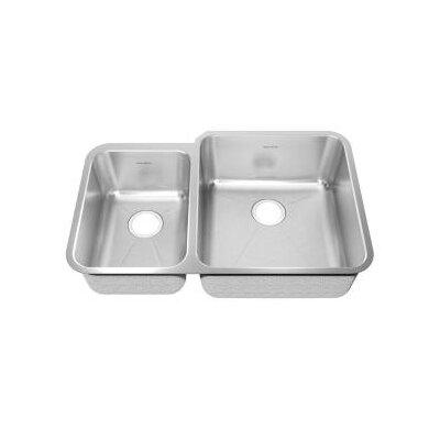 """Prevoir 38"""" L x 25.25"""" W Double Basin Undermount Kitchen Sink"""