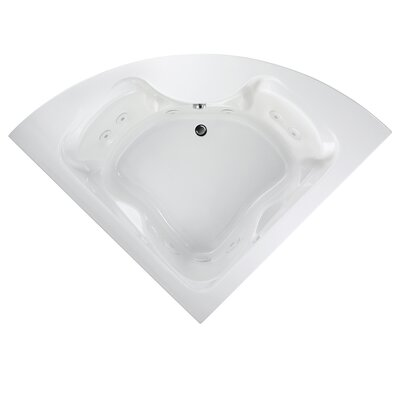 "Universal 85"" x 60"" Corner Air Tub with StayClean Hydro Massage System l Color: White"