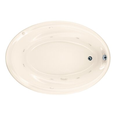 "Savona 60"" x 42"" Air/Whirlpool Bathtub with StayClean Hydro Massage System l Color: Linen"