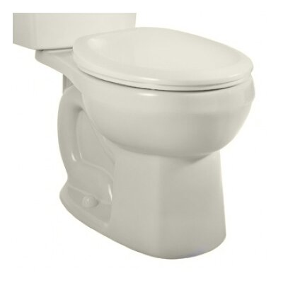 Dual Flush Round Toilet Bowl Color: White