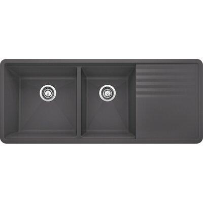 """Precis 48"""" L x 20"""" W Multilevel Kitchen Sink Color: Truffle"""