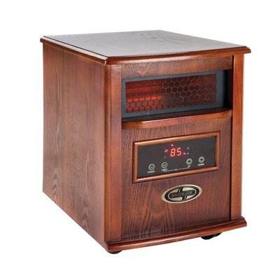 1500 Watt Quartz Portable Infrared Cabinet Heater W/Stainless Steel Diffuser & Remote Control