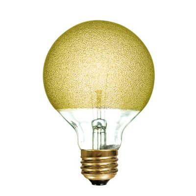 Crystal 40W Yellow Incandescent Light Bulb (Set of 5)